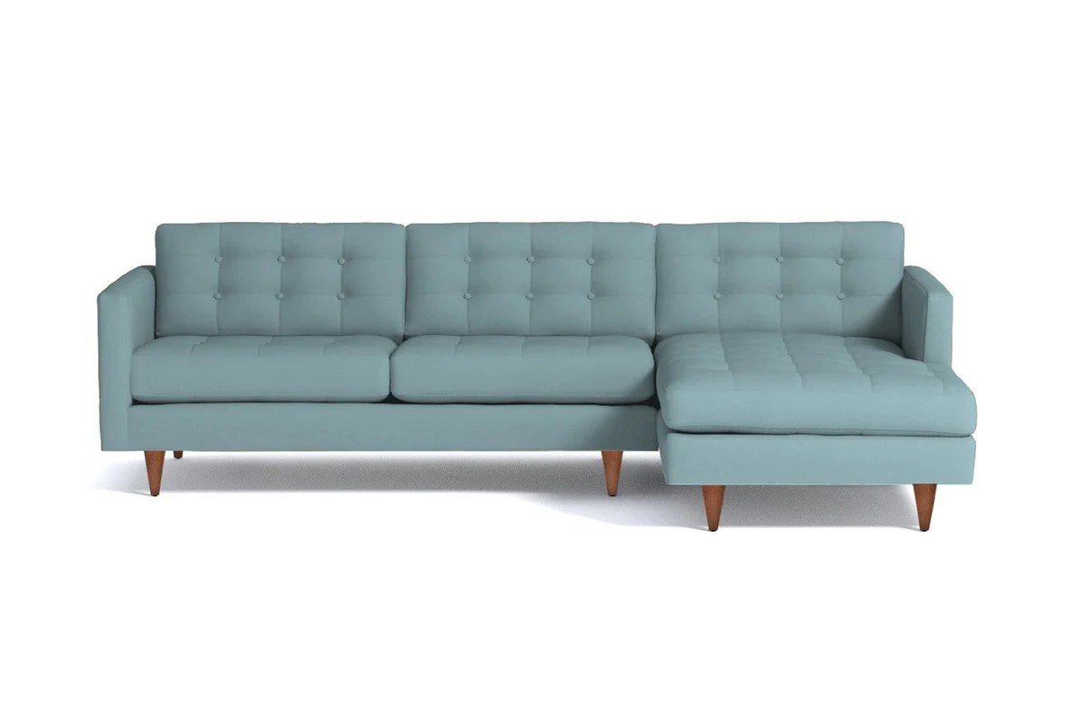 beverly 2pc sectional sofa leg finish pecan configuration raf chaise on the right