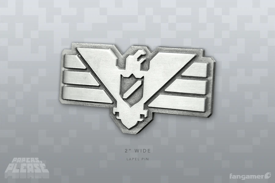 Papers Please Arstotzka Inspector Pin Fangamer