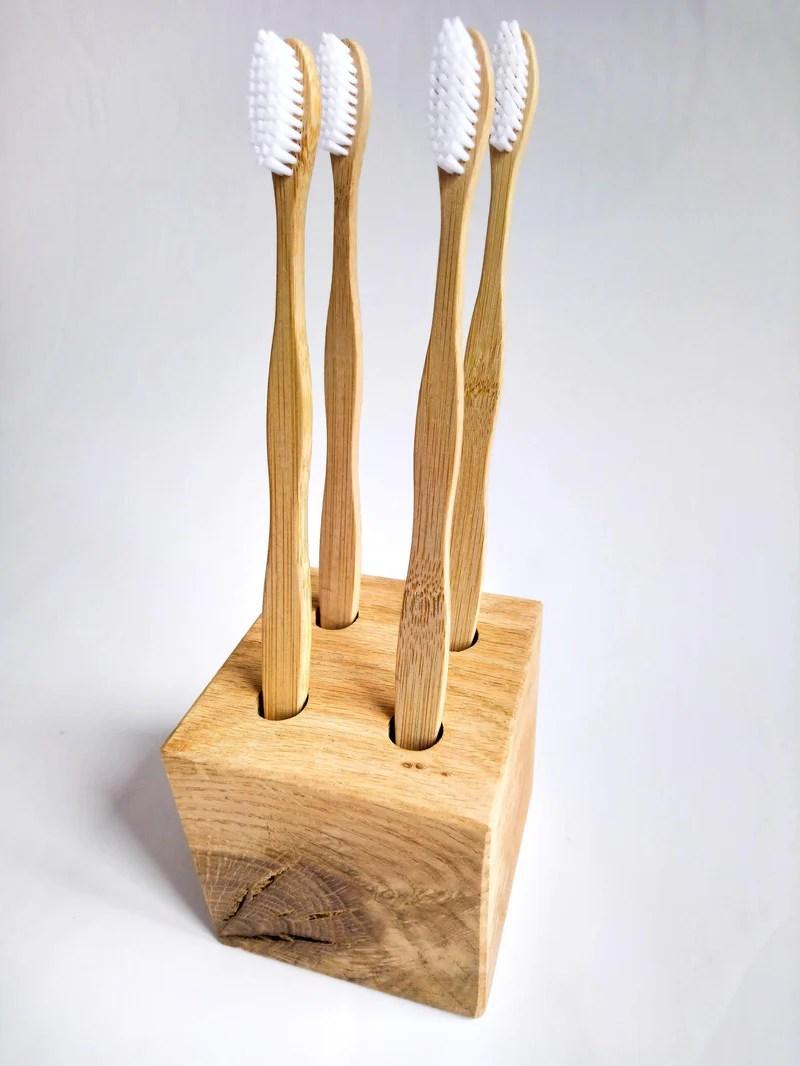 Porte Brosses A Dents En Chene Fabrication Artisanale My Ecological Lifestyle