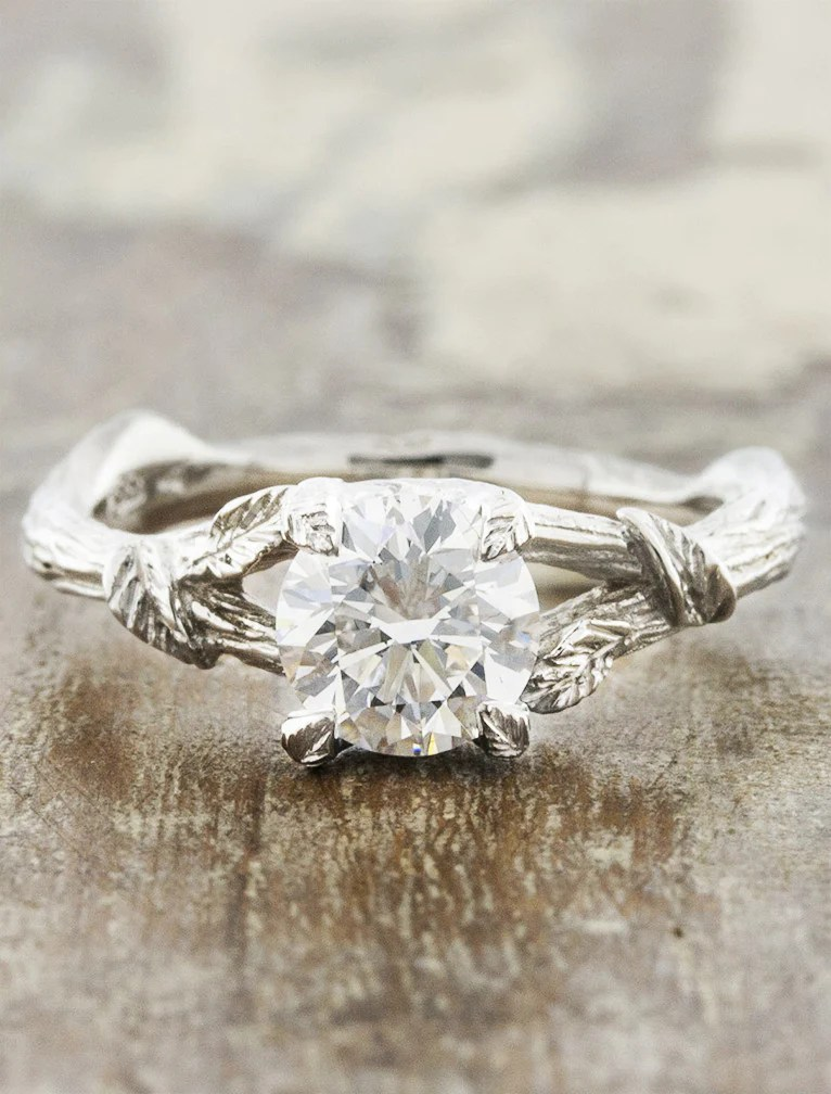 Adelia Nature Inspired Diamond Engagement Ring Ken