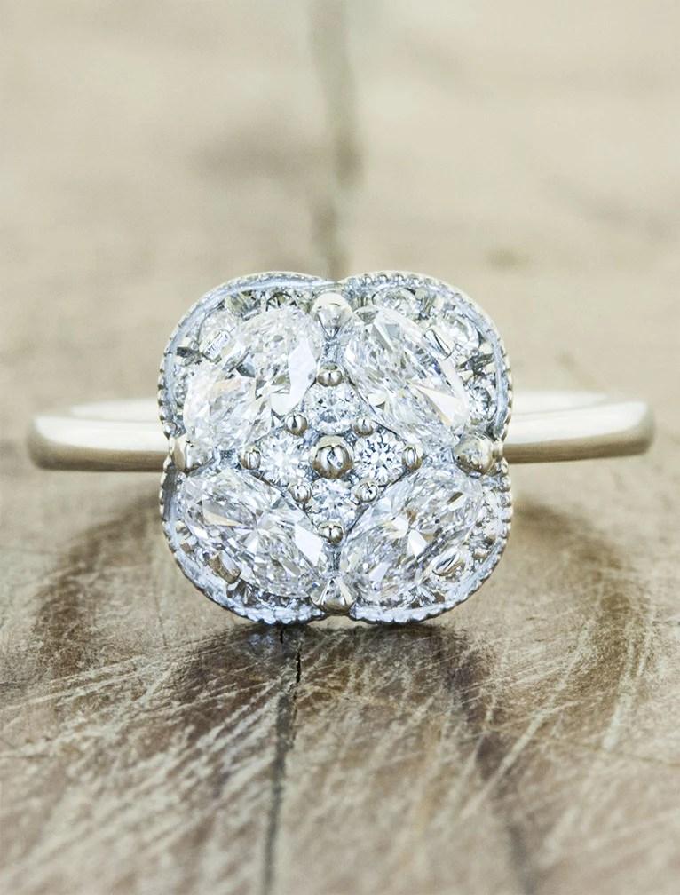 Chloe Diamonds Flower Inspired Engagement Ring Ken