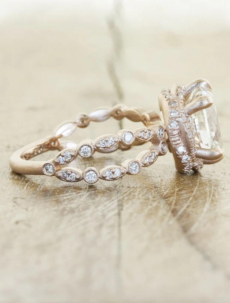 Rena Intricate Split Shank Round Diamond Engagement Ring