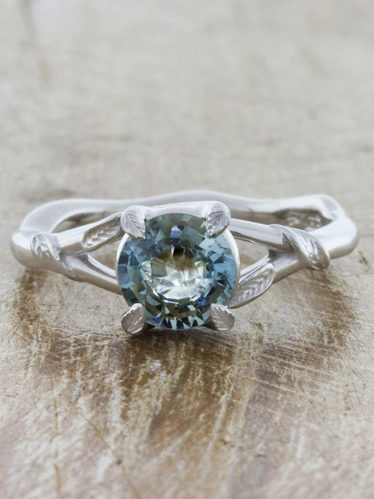 Pembroke Sapphire Nature InspiredLeaf Detailed