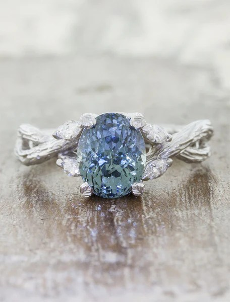 Emery Montana Sapphire Ring Nature Inspired Ken Amp Dana