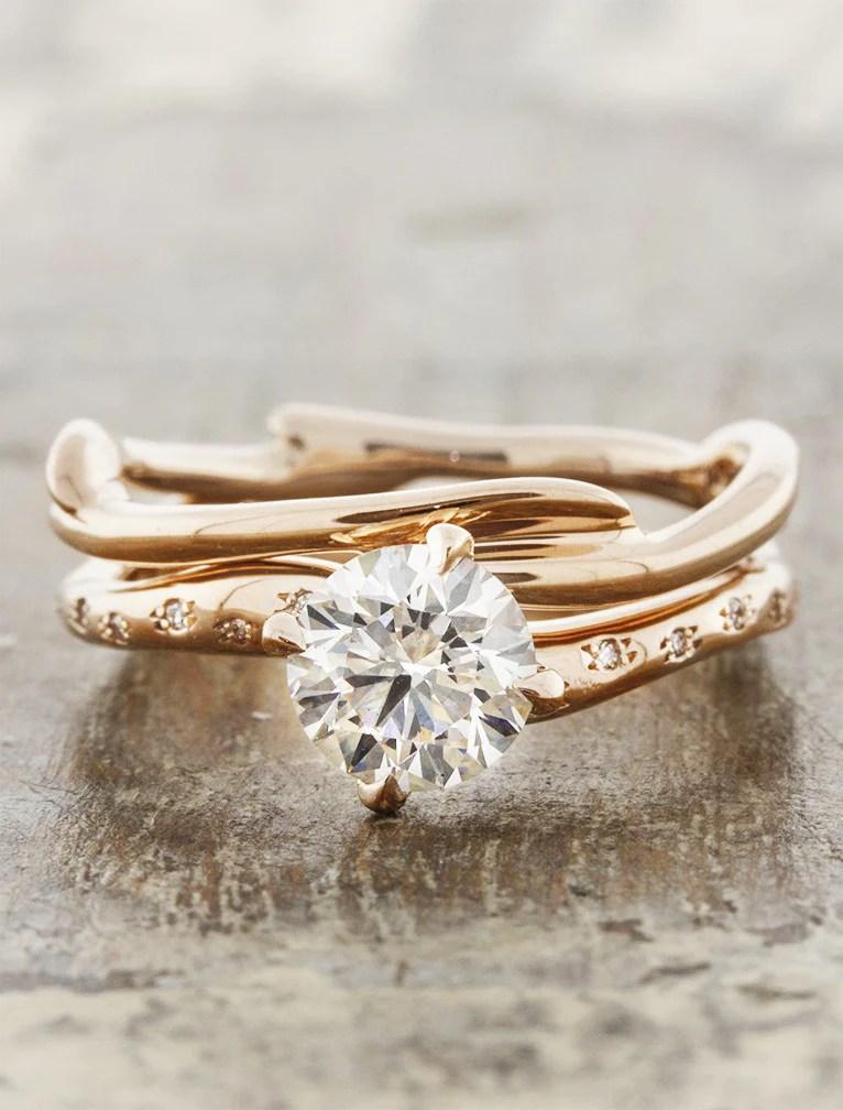 Kennedia Branch Wedding Ring Earthy Organic Ken