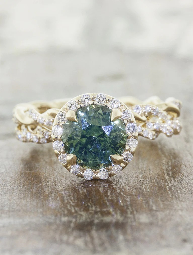 Kari Rope Band Montana Sapphire Engagement Ring Ken