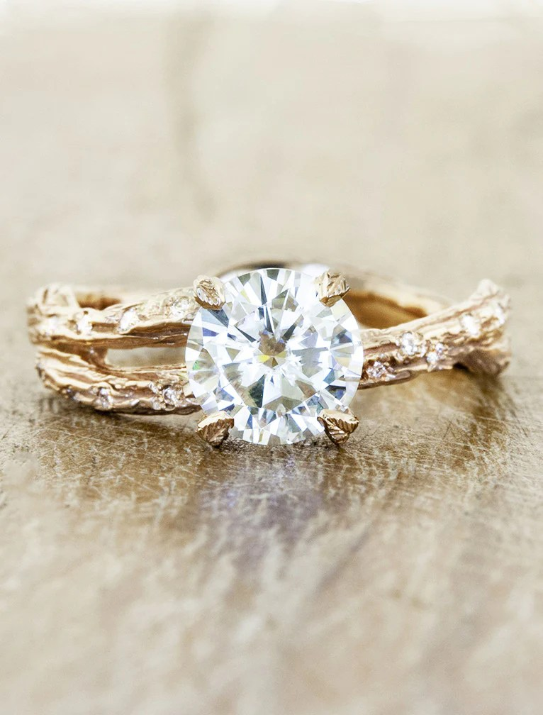 Mable Diamonds Nature Inspired Diamond Solitaire Ring
