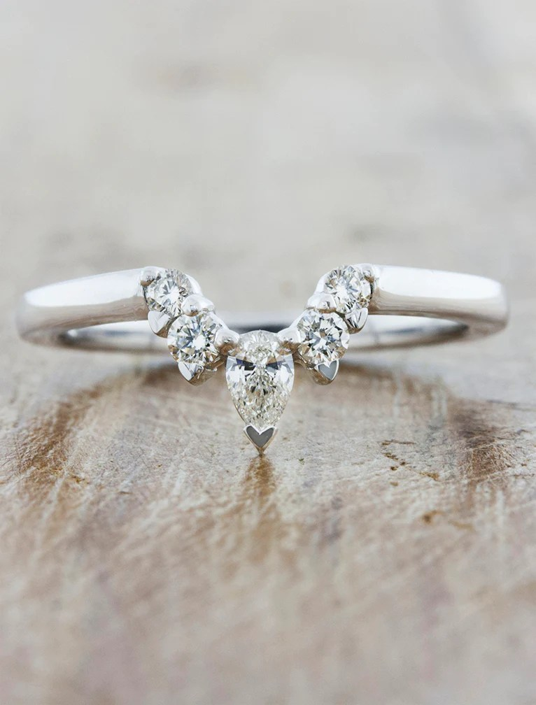 Laxmie Pear Shaped Wedding Band Ken Amp Dana
