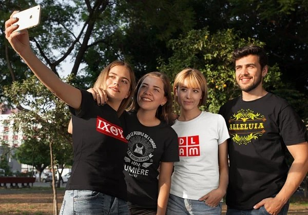 t-shirts chrétiens DLAM