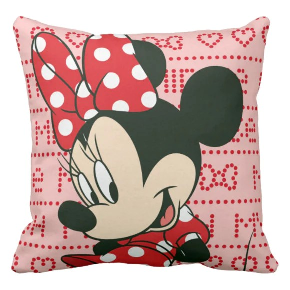 disney minnie mouse pillow minnie mouse throw pillow decor minnie mouse bedroom pillow gift minnie polka dot red bow and dress