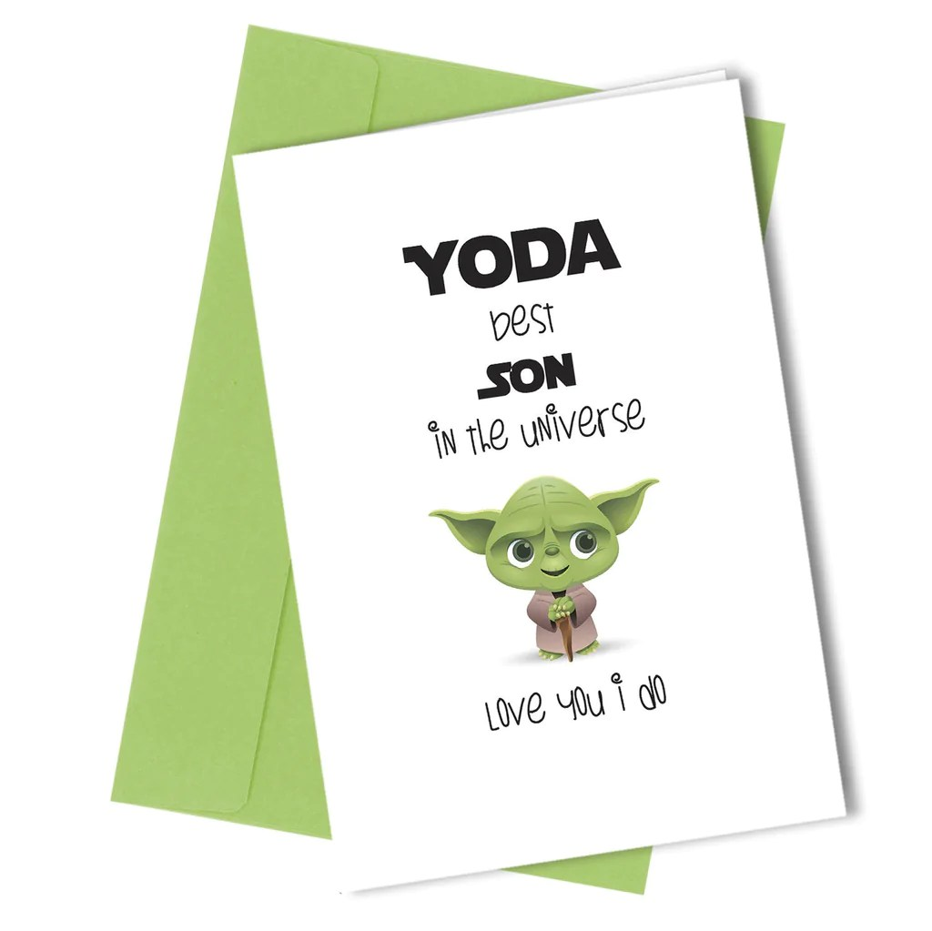 269 Yoda Best Son Close To The Bone Greeting Cards