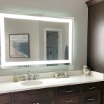 Front Lighted Led Bathroom Vanity Mirror 48 X 44 Rectangular Mirrors Marble