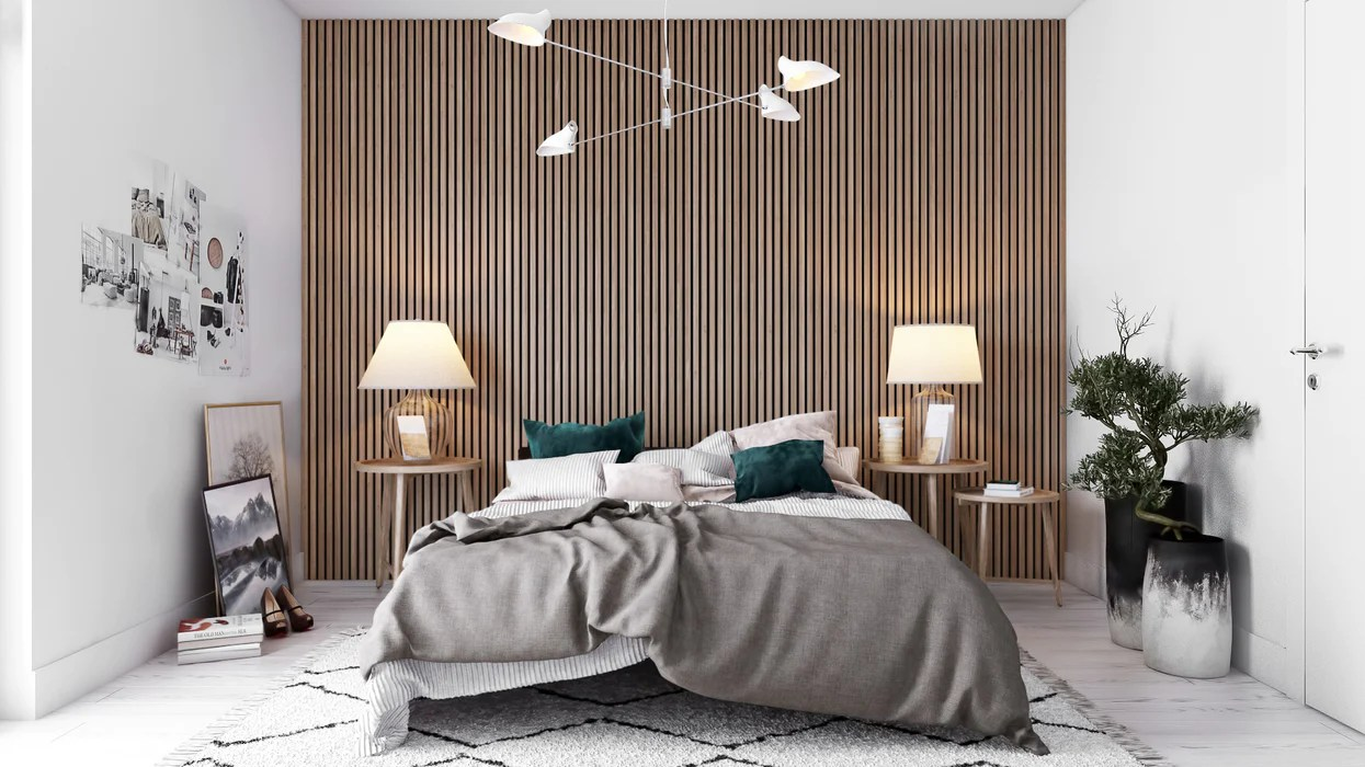 acupanel contemporary walnut acoustic wood wall panels