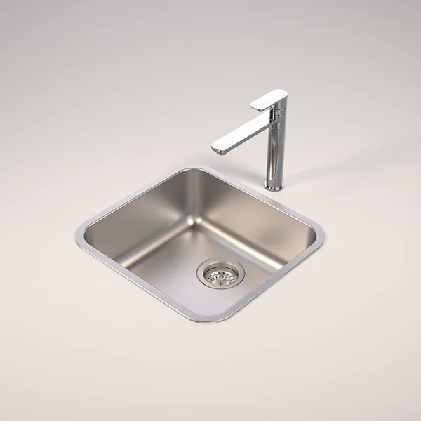 caroma luna single bowl stainless steel sink