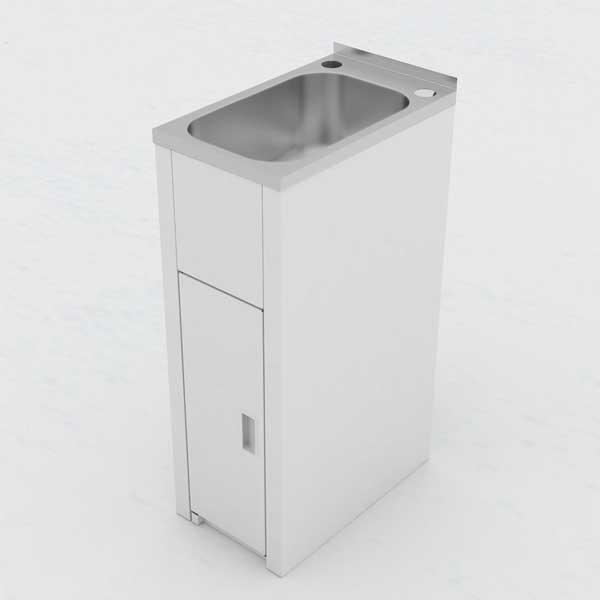 clark utility mini 16 litre laundry tub and cabinet