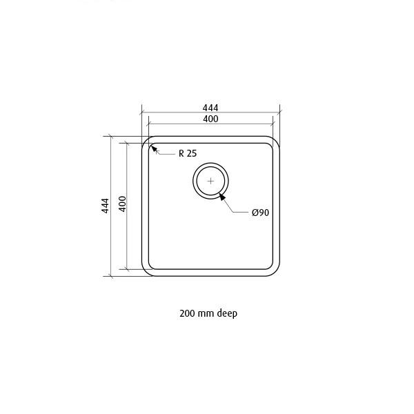 seima kubic single bowl inset undermount kitchen sink