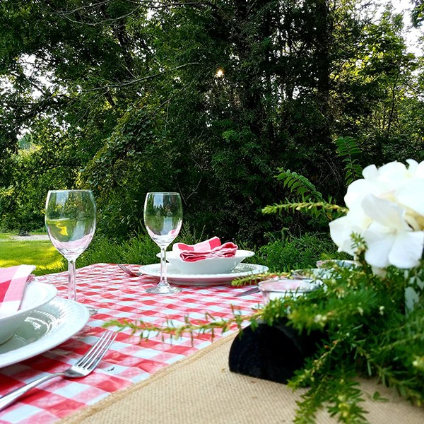 dress your picnic table for dinner