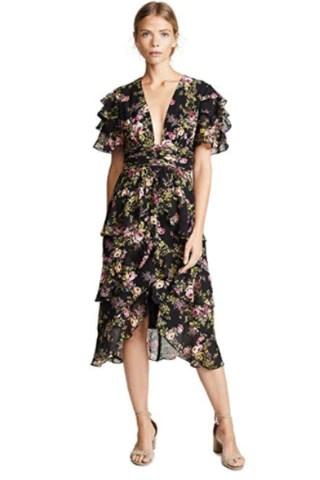 WAYF Women's Miranda Tiered Ruffle Dress