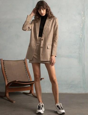 pixie market plaid skirt and blazer