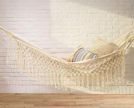 macrame outdoor hammock
