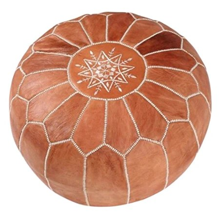 moroccan floor pouf leather