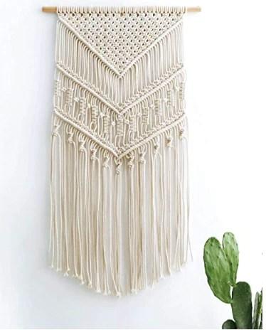 macrame woven wall tapestry boho decor