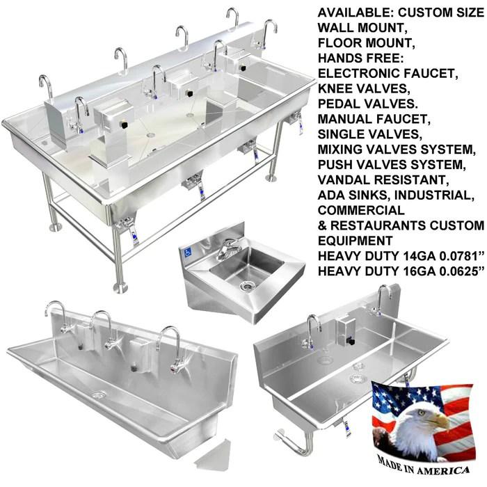 heavy duty 18 gauge 0 05 type 304 stainless steel mop sink cabinet enclosure 48 x 28 x 94 ms944828