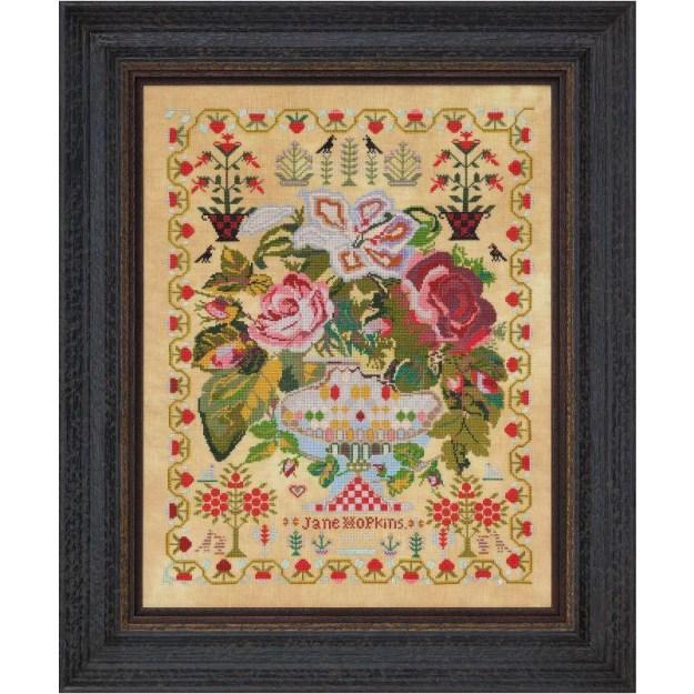 Jane Hopkins 1875 Sampler Pattern Printed Book – Hobby House Needleworks