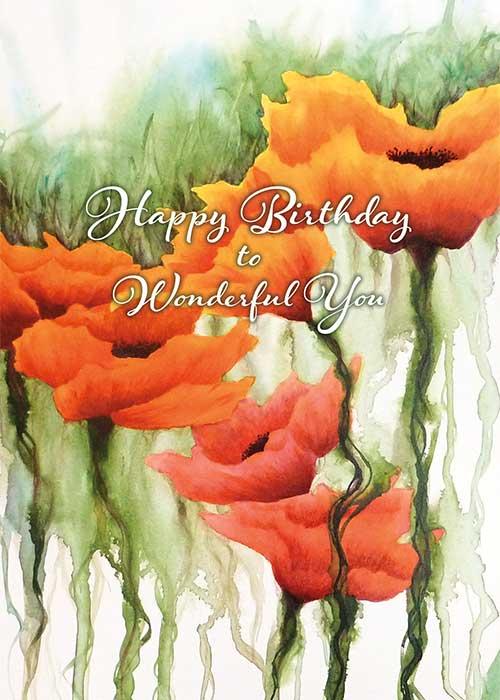 Wonderful You Nature Birthday Card St Thomas Greetings