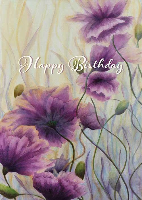 Happy Birthday Floral Nature Birthday Card St Thomas Greetings