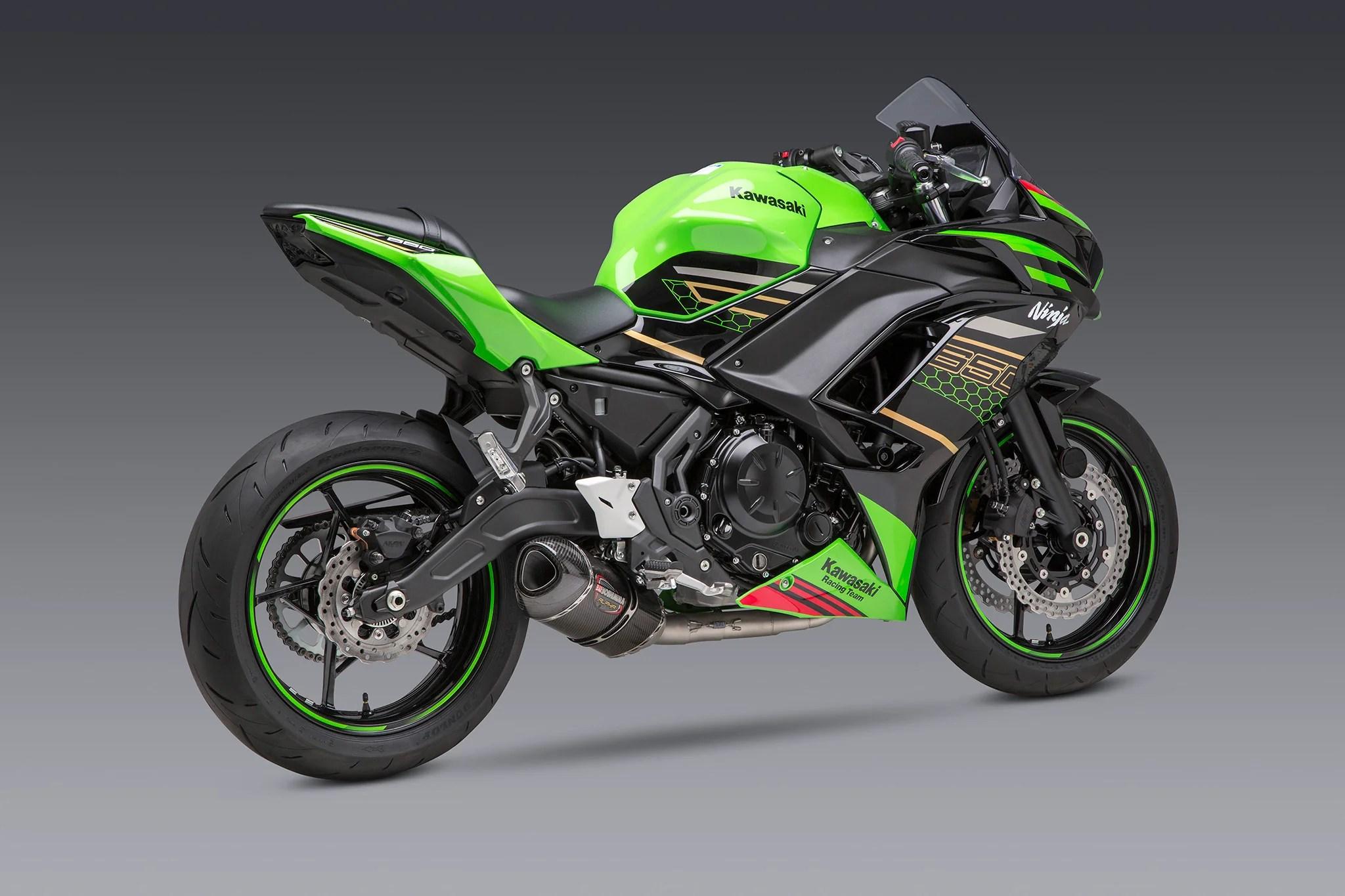 ninja z 650 17 21 race alpha stainless full exhaust w carbon fiber muffler