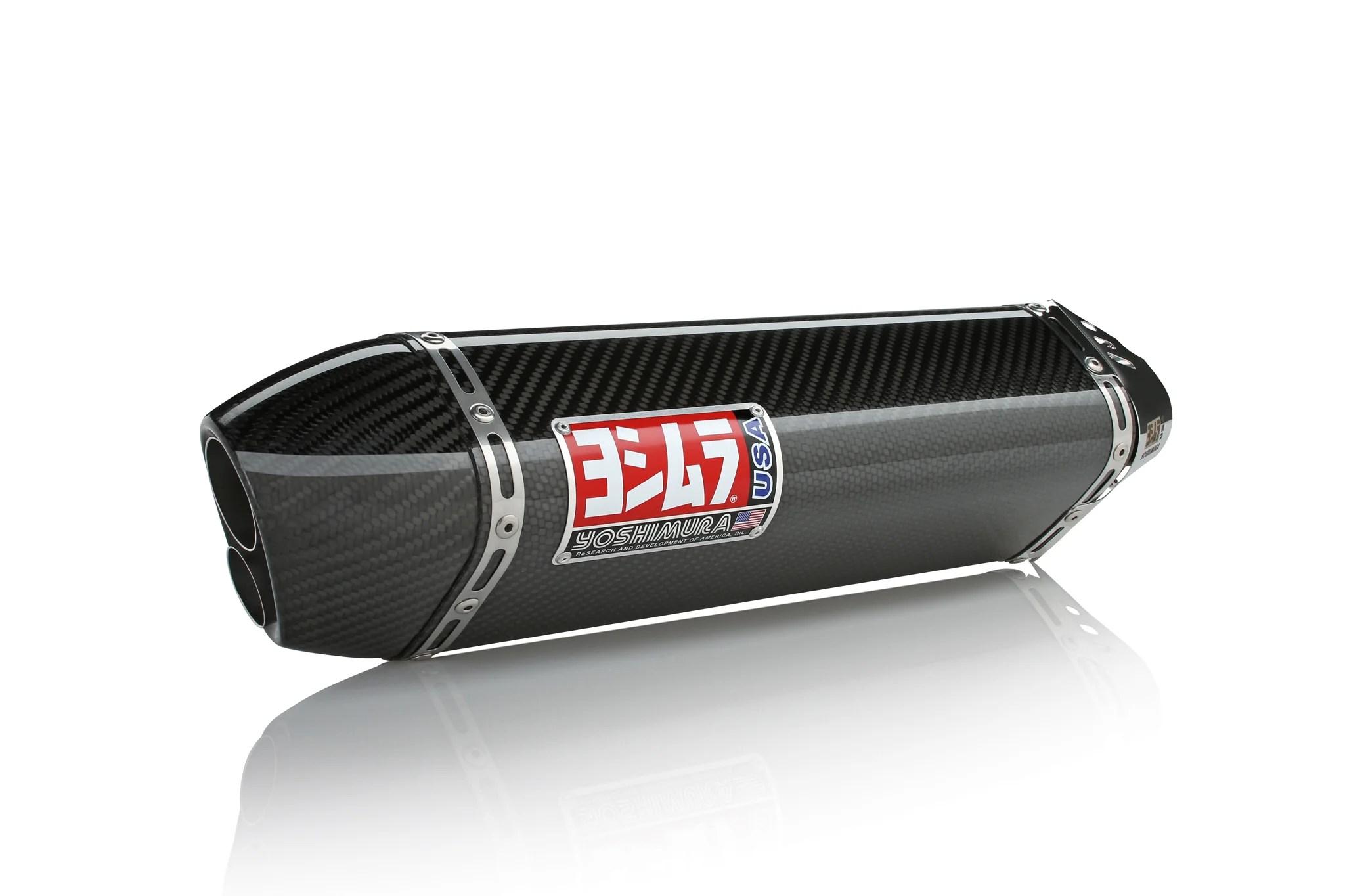 gsx r600 750 11 21 trc d stainless slip on exhaust w carbon fiber muffler