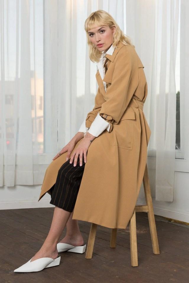 Brigitte Camel Trench Coat