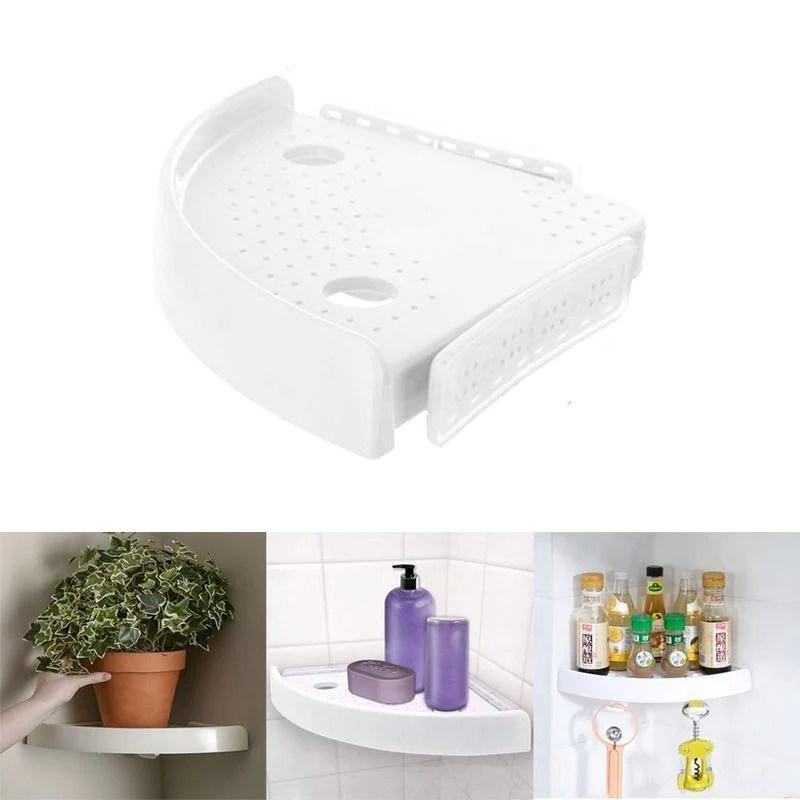 tablette d angle de salle de bain multifonction sans vis
