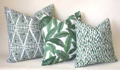 blue and green accent pillows online