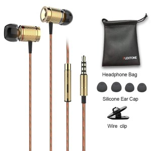 Plextone X53M Richbass Magnetic In-ear Earbuds With Mic For Mobile-Gold