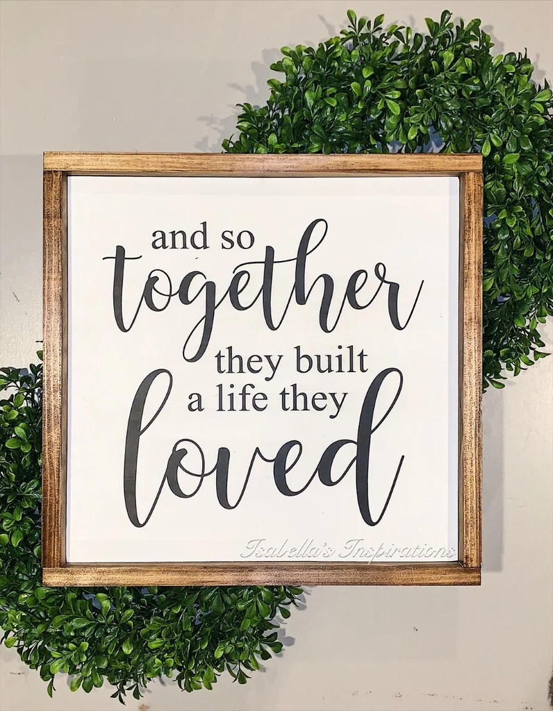 """Download And So Together They Built a Life They Loved -- 16""""x16 ..."""