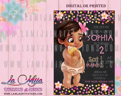 baby moana invitations customized item baby moana birthday party ideas invitaciones baby moana baby moana birthday invitations baby moana party