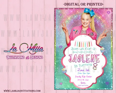 jojo siwa jojo siwa birthday invitations customized item jojo siwa invitations invitaciones jojo siwa 22 jojo siwa party ideas