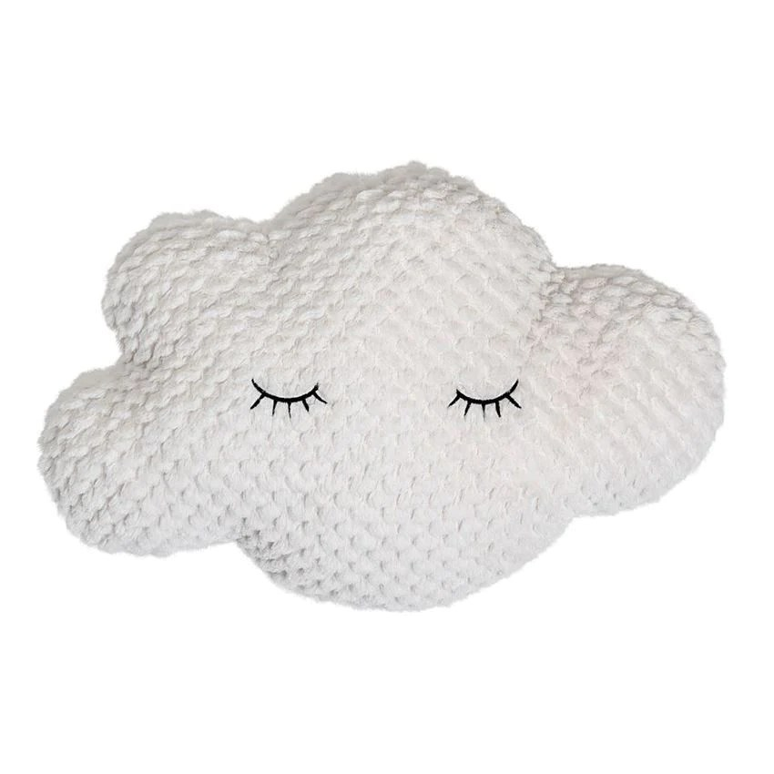 cotton cloud shaped pillow in white