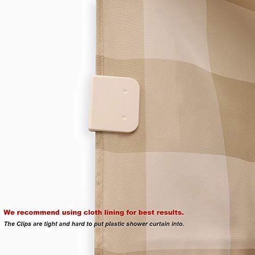 Magic Clip Shower Curtain Splash