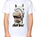 Funny Horse Chill Bro Mens Tshirt Animal Race T Shirt Kids The Clothing Shed