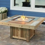 48 Inch Square Vintage Natural Gas Fire Pit Table Vng 2424brn The Outdoor Greatroom Company Electricfireplacesplus Com