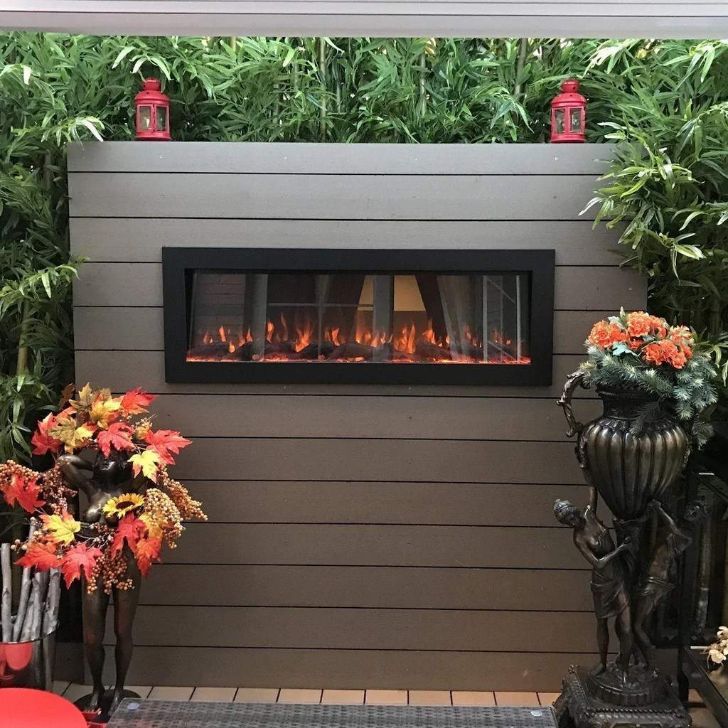 touchstone sideline 50 indoor outdoor electric fireplace