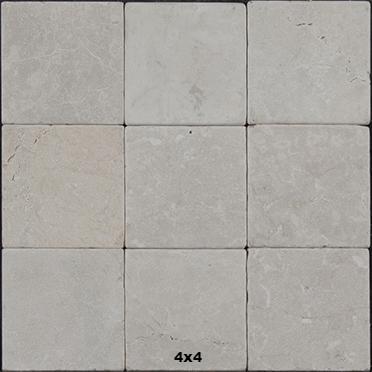 botticino tumbled marble tile