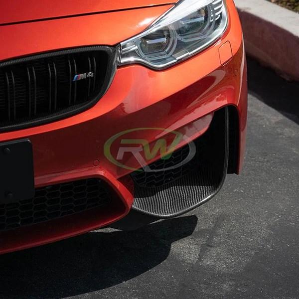 rw carbon bmw m3 m4 carbon fiber perf style splitters