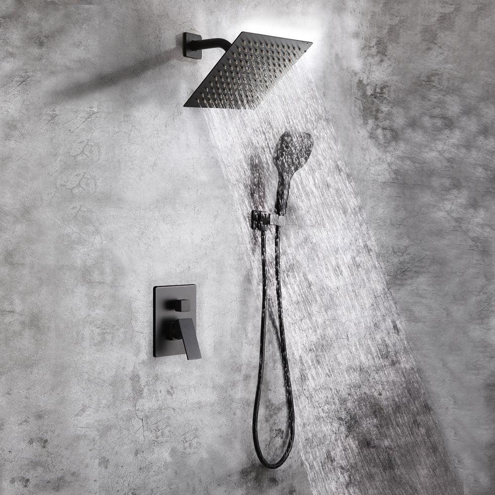 matte black shower system bathroom luxury rain mixer shower faucet set pop kitchen bath depot
