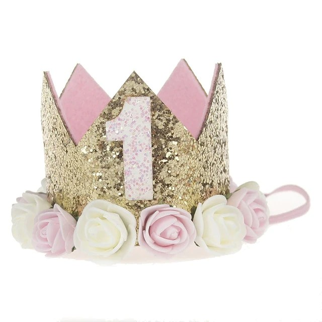 1 First Birthday Crown Lullaby Lane Baby Boutique