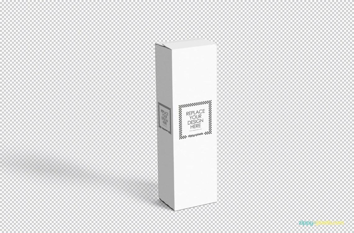 Download Vertical Box Mockup Cardboard - Mockup Hunt