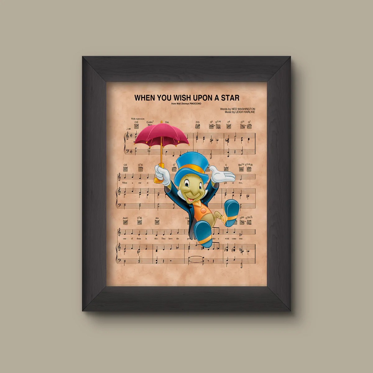 When You Wish Upon Star Jiminy Cricket Art
